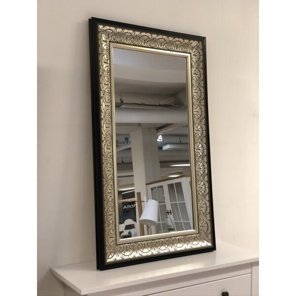 hõbedase ornamentikaga peegel